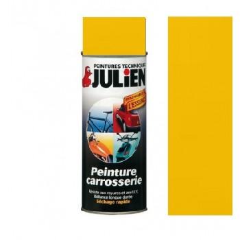 Peinture bombe jaune carrosserie  auto moto voiture antirouille vehidecor JULIEN