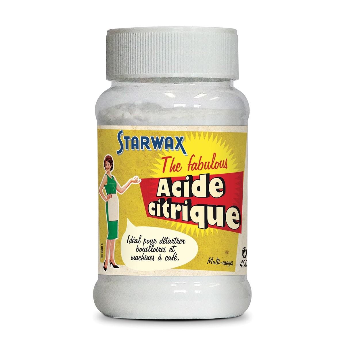 acide citrique élimine calcaire tartre rouille mousse fabulous