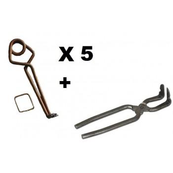 Lot 5 piège à taupe modèle putange + clé LUCIFER