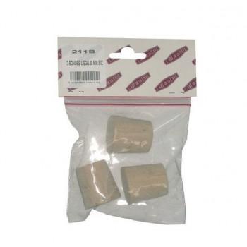 Bonde bouchon en liège diamètre 30 MM vendu par 3 BOUCHONNERIE JOCONDIENNE
